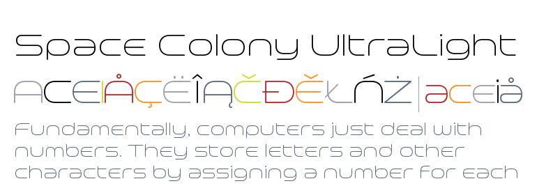 Space Colony UltraLight - Fonts com