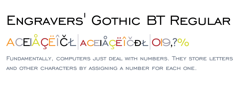 engravers gothic font family free download