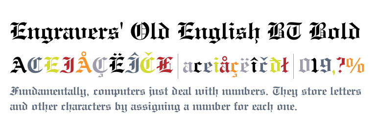 Engravers' Old English BT Bold - Fonts com
