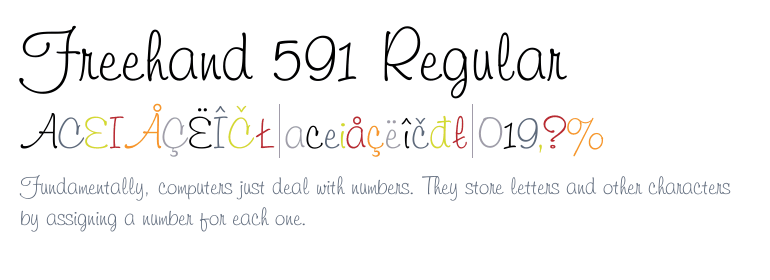 font freehand