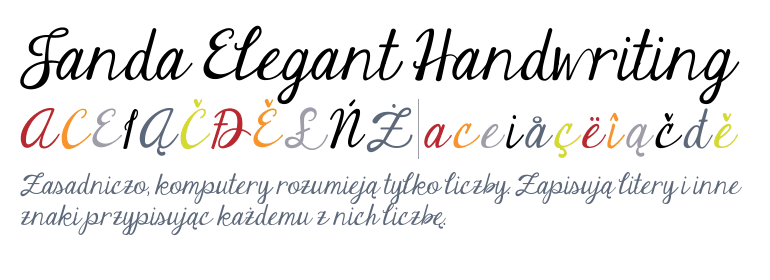 janda elegant handwriting regular