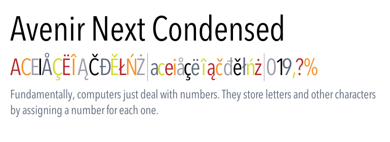 Avenir® Next Condensed - Fonts com