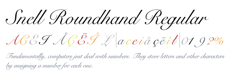 Snell roundhand regular Roundhand calligraphy