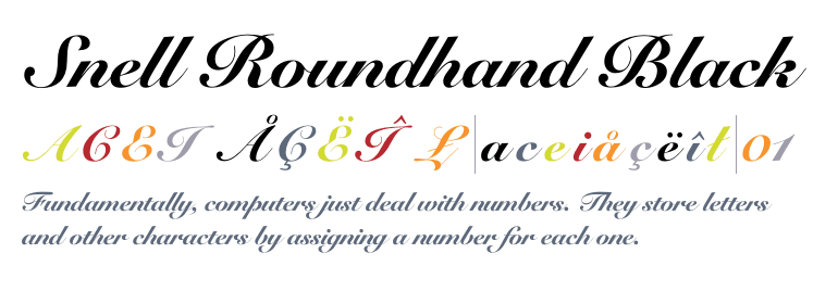 Snell Roundhand Bold Script