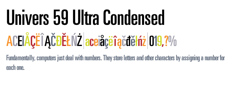 univers lt 59 ultra condensed free download
