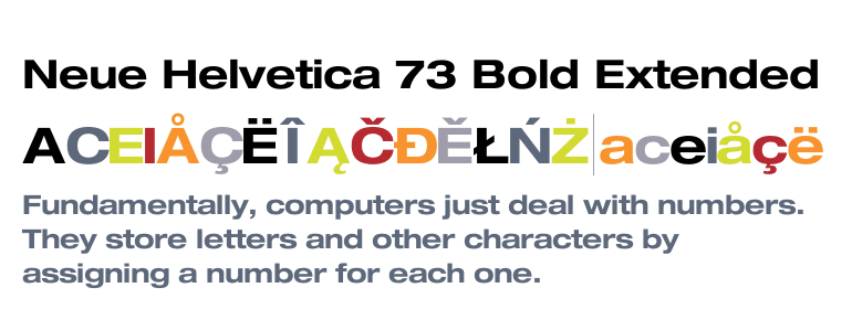 Neue Helvetica® 73 Extended Bold - Fonts com