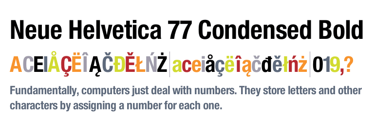 Neue Helvetica® 77 Condensed Bold - Fonts com