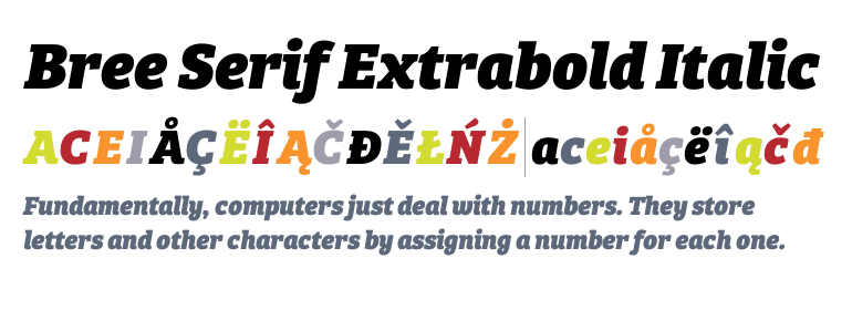 save up to 80% official attractive price Bree Serif Extrabold Italic - Fonts.com
