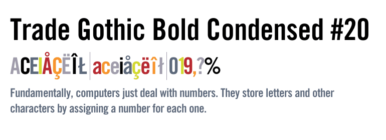 trade gothic condensed font free download