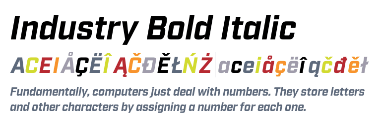 Industry Bold Font Free