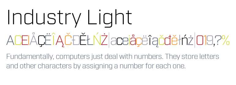 Industry Light - Fonts com
