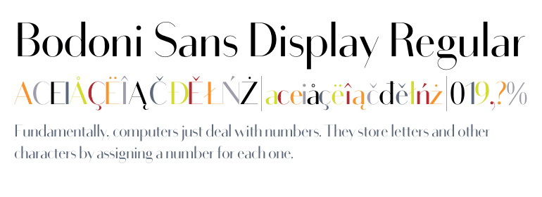 Bodoni Sans Display Regular - Fonts com