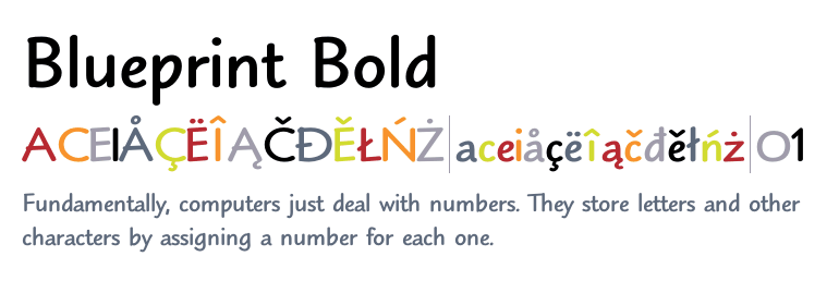 Blueprint™ Bold - Fonts com