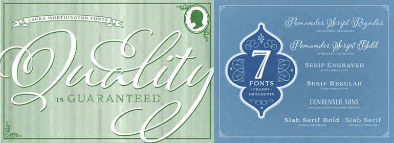 Adorn Smooth Complete Family Pack - Fonts com