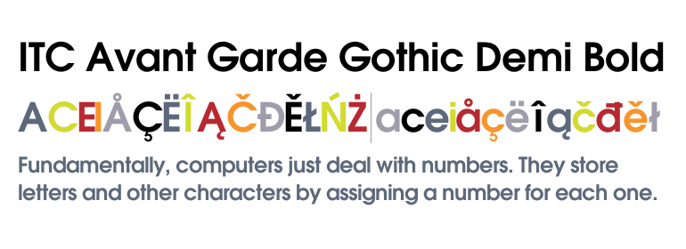 itc avant garde gothic demi free font download