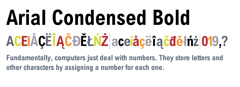 Arial® Condensed Bold - Fonts com