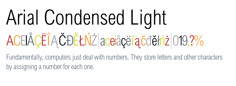 Arial® Condensed Light - Fonts com