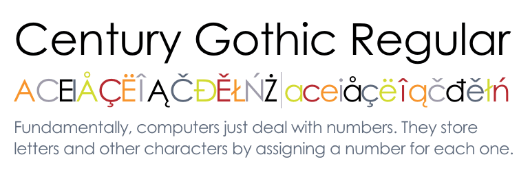 century gothic font free for mac