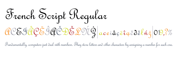 French cursive handwriting alphabet font
