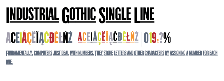 Industrial Gothic™ Single Line - Fonts com