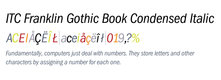 Itc Franklin Gothic Book Condensed