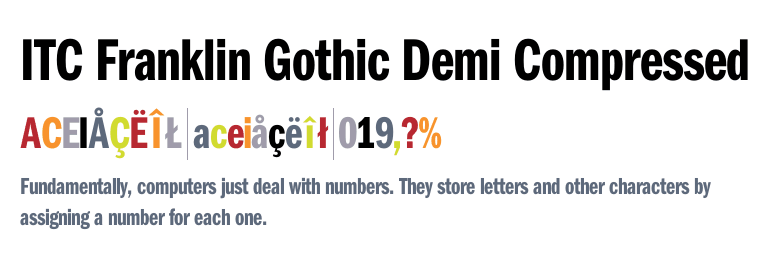 ITC Franklin Gothic™ Demi Compressed - Fonts com