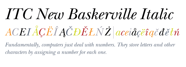 Baskerville semibold italic - Abstract Fonts