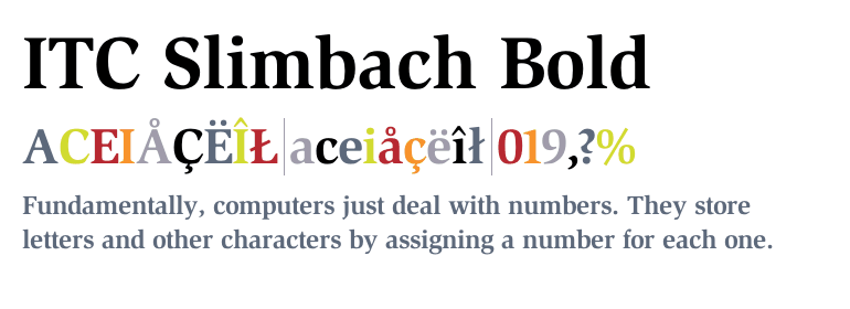 Download Free Font Slimbach