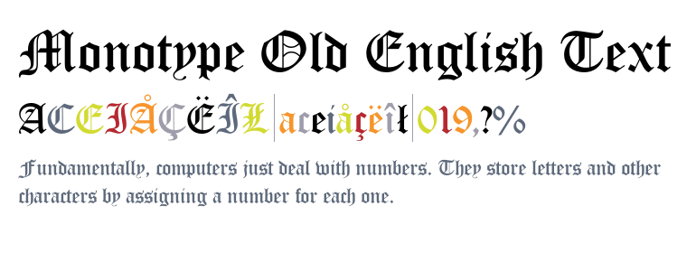 Monotype Old English Text™ - Fonts com