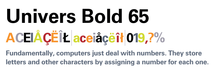 Download Univers 65 Bold font for free at AZfonts