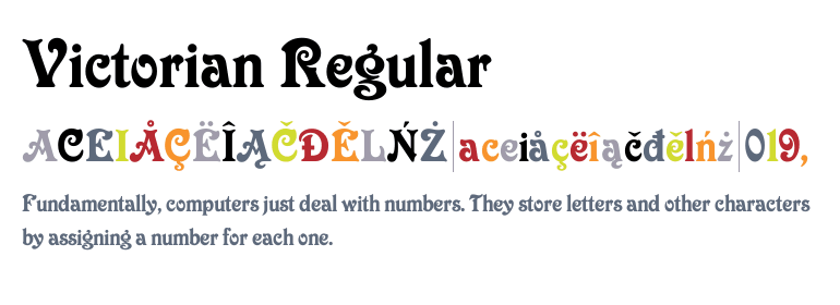 Victorian™ Regular - Fonts com