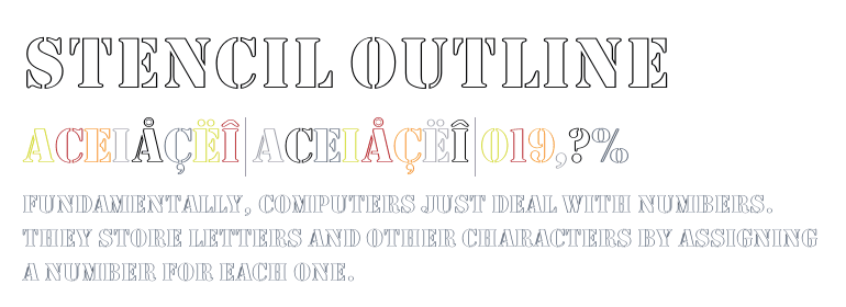 Stencil Outline - Fonts com