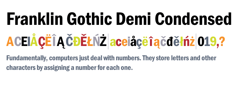 Franklin Gothic Demi Condensed - Fonts com