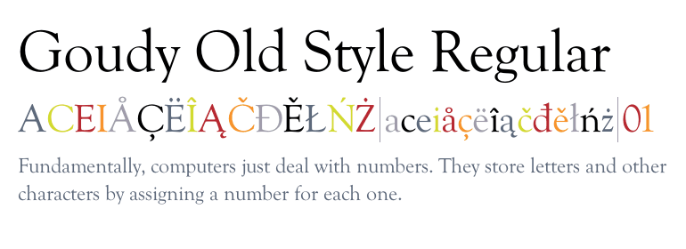 Goudy Old Style™ Regular - Fonts com
