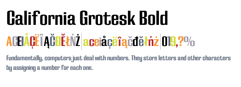 California Grotesk Bold - Fonts com