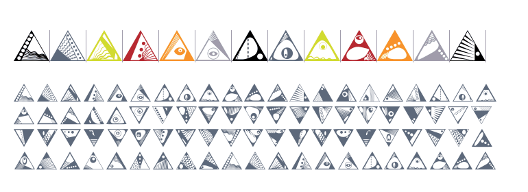 Anns Deco Glyphs Triangles Fonts