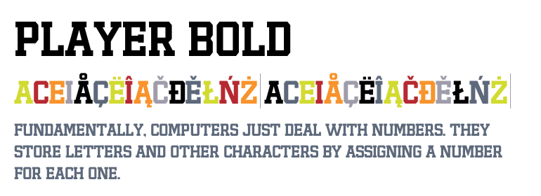 Player Bold - Fonts com