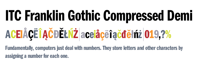 ITC Franklin Gothic™ LT Demi Compressed - Fonts com