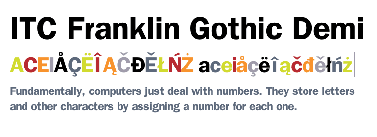 Franklin Gothic Book Bold Font