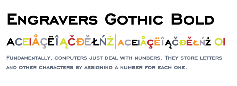 engravers gothic bold font free download