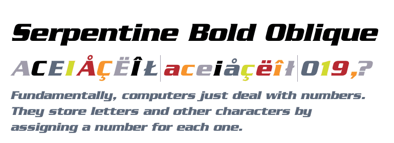 Serpentine-Bold Oblique Font Download For Free