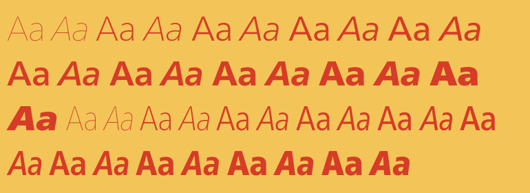 Neue Frutiger™ Complete Family Pack