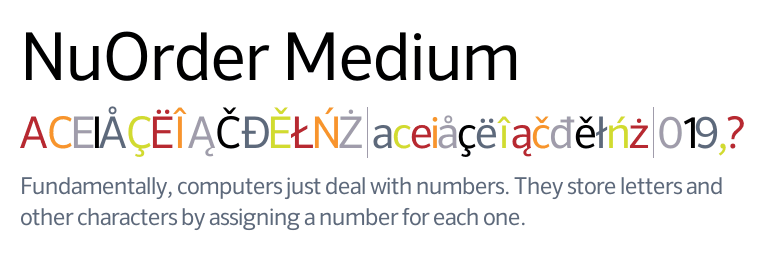 nuorder font