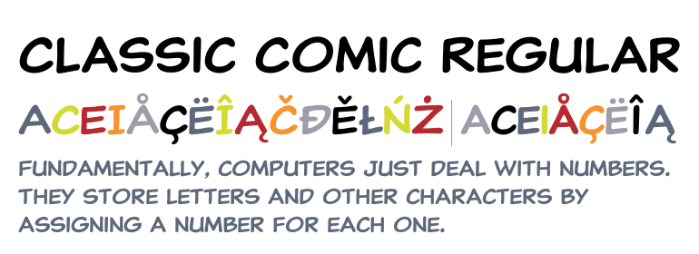 Classic Comic Regular - Fonts com