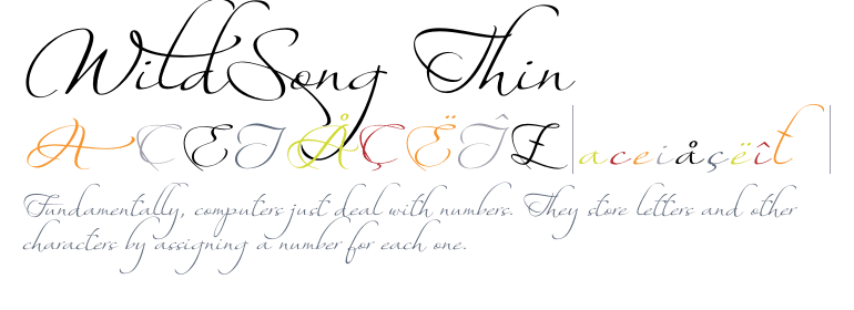 Wildsong Thin - Fonts.com