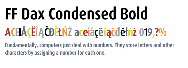 FF Dax® Condensed Bold - Fonts com