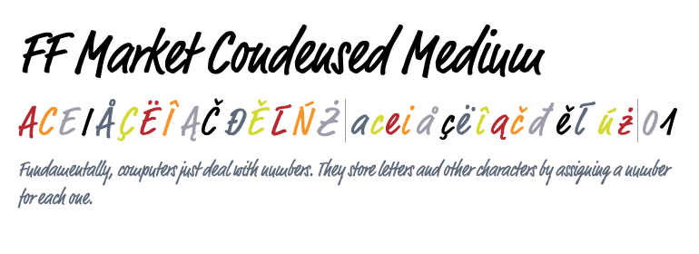 FF Market® Condensed Medium - Fonts com