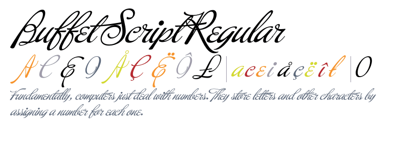 buffet script regular