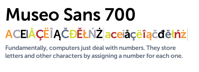 The Typekit Blog | New from exljbris, Museo Sans Rounded