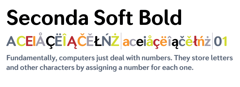 Seconda Soft Bold - Fonts com